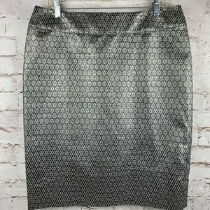 Charter Club size 4 Silver Diamond Geometric Skirt